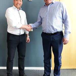 Dan Friberg adm direktør, Infobric til venstre. Daglig leder Claus H. Olsen, Tempus