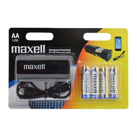 Få en Maxell POWERBANK u/b ved køb af 5 æsker ass. Maxell eller Camelion alkaline batterier.