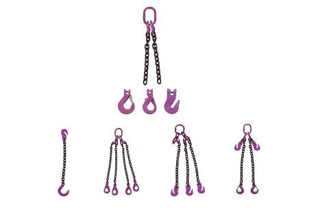Kædeslyng, samlet præcis til dine løft!  - Kædelsing med flere kæder, kroge, integreret opkorter eller ovalringe
