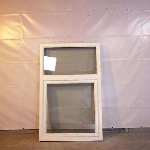 Fast drejekip vindue, træ/alu, 009470