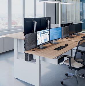 Højdejusterbar-dobbeltarbejdsplads