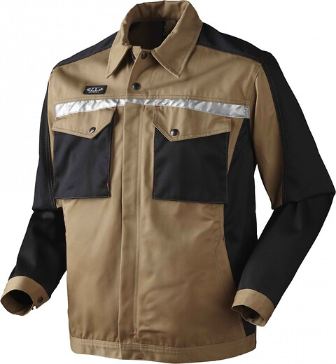 Arbejdsjakke, 9205 - khaki/sort