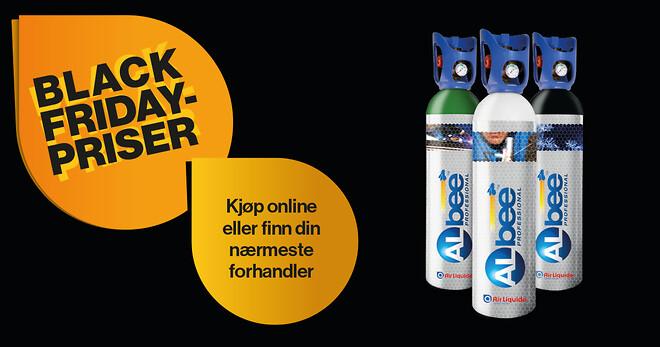 Gjør et godt kjøp på ALbee gassflasker fra Air Liquide under Black Friday week.