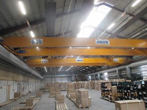 Brugte Abus traverskraner 17,5 ton x ca. 22 mtr som nye sælges