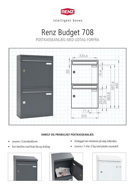 RENZ Budget 708 Postkasseanlæg