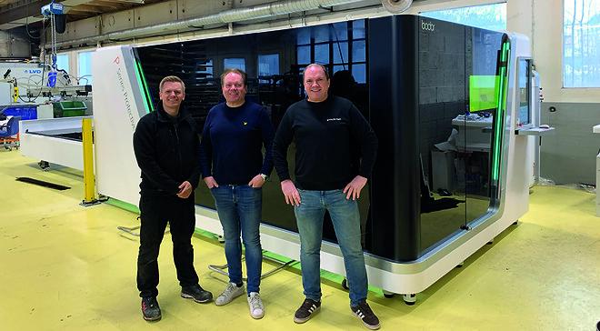 Fra venstre: Eddy Authen, Olsen maskin, Steinar Hole og Marvin Hole, begge fra Stålvarer AS.