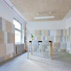 """Troldtekt akustikløsninger er med i verdens første C2C LAB, som netop er åbnet i Berlin. Den gennemrenoverede bygning er uddannelsescenter, NGO-kontor og """"levende laboratorium"""" for Cradle to Cradle-certificerede byggematerialer"""
