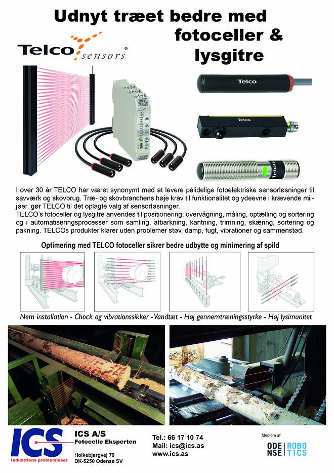 TELCO ICS fotoceller træ