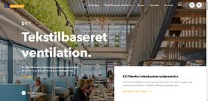 Ny KE Fibertec hjemmeside om tekstilbaseret ventilation