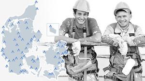 Billig arbejdsovernatning for håndværkere - GRATIS Firmakort