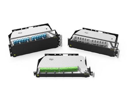 """SRS4000 modulært 19"""" fiberskuffe"""