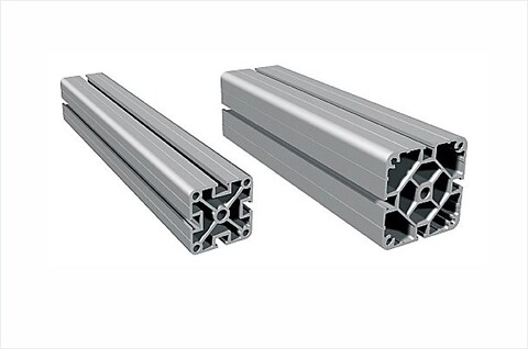 Stativprofil PS 50 / PS 80 i natur eloxerad aluminium för snabb och enkel uppbyggnad  - #aluminiumprofil\n#stativ\n#bord\n#profil\n#solectro\n#isel\n#konstruera