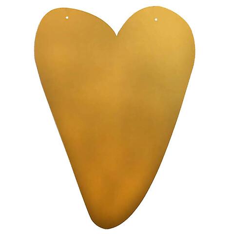 Guld hjerte til ophæng, ca H61cm