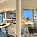 Covid-19 Testcenter- Region Nordjylland, Hjørring Sygehus\nFoto: Adapteo