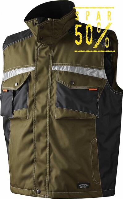 Vest, army/sort - 9233