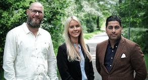 <b>Säljavdelningen:</b> Henrik Andersson, Nicole Pihl och Freddy Bustos.