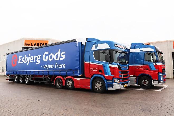 Kel-Berg 3 akslet gardintrailere fra Lastas