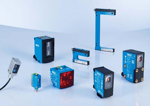 Sensorer til effektiv etiketering og mærkning -  SICK tilbyder et bredt produktprogram af kontrast-, mærkeløs-, farve-, luminescens-, gaffel- og array-sensorer