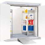 REI90 - brandsikringslager BMC-M 240 med 2-fløjet EI90-dør på den korte side, lagerplads ca. 5 m²