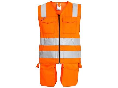 Håndværkervest safety orange - str. xl