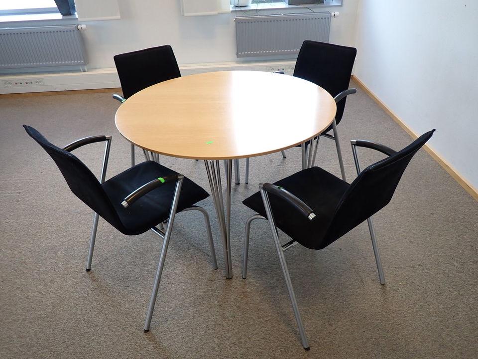 4 stk. konferencestole four design G2 m. mødebord Licitationen