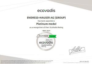 Toppbetyg för hållbarhet- EcoVadis