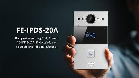 Kompakt men magtfuld, FREUND FE-IPDS-20 - IP-Dørtelefonanlæg