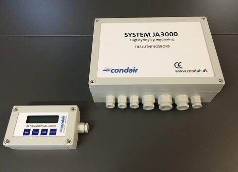 Fugttransmitter JA 3000: Intelligent og moderne fugttransmitter - Fugttransmitter JA 3000 er et stand-alone styring til befugtning- og affugtningsanlæg.