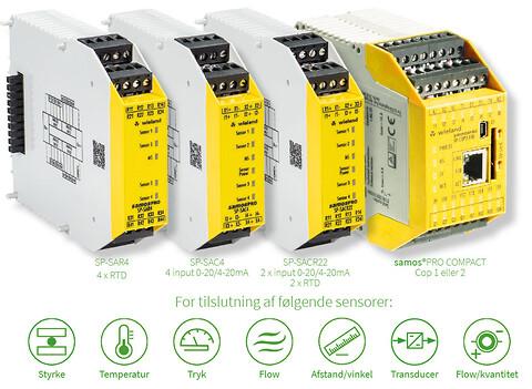 samos® PRO Compact sikkerheds PLC med 3 nye analog moduler. - Wieland Electric leverer analoge sikkerhedsmoduler