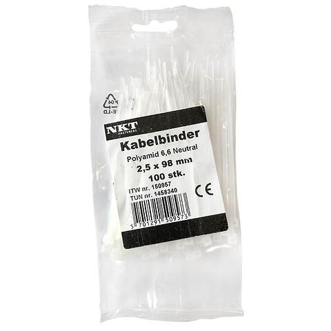Strips / kabelbinder 2,5 x 98 mm