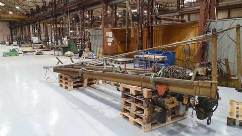 Brugte vægsvingkraner  500/1000 kg udlæg ca. 6 mtr sælges