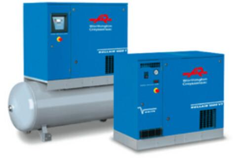Frekvens reguleret skruekompressor fra Trykluft Centret A/S.