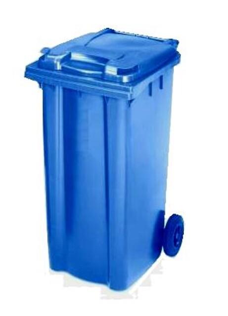 Affaldscontainer 2-hjulede 240 l - blå