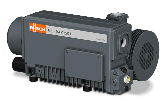 Fig. 1 \nR5 lamellvakuumpump, som den tidigare var installerad i förpackningsmaskinen och nu ingår i det centrala vakuumförsörjningssystemet