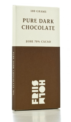 Friis-Holm Johe 70% er Europas bedste mørke chokolade.
