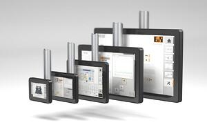 Power Panels; svingarmsystemer; Field HMI-terminalerne; multi-touch teknologi; projicerede kapacitive touchskærme; ultra-tynde widescreen-enheder