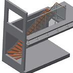 Værn og trappe i penthouse