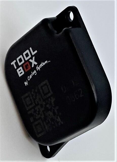 Så er de landet... - TOOLTAG til montering på værktøj. Værktøjet trackes via modulet TOOLBOX.