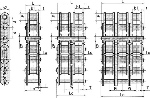 """Hoyer rullekæde 16B2 duplex 1"""""""