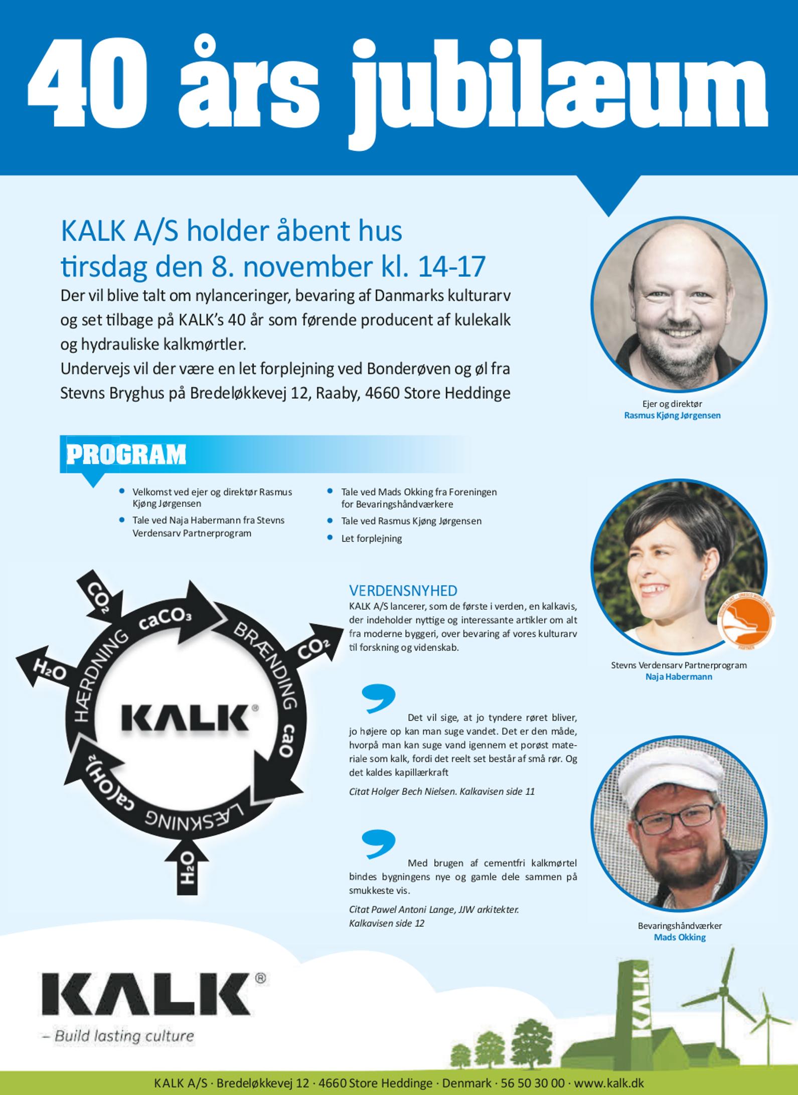 citater om jubilæum KALK A/S har 40 års jubilæum   Building Supply DK citater om jubilæum