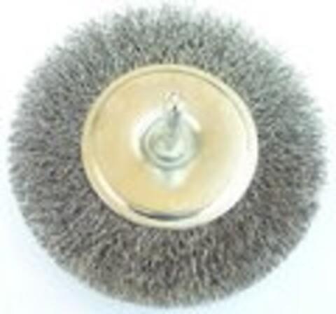 Stålbørste Ø75 mm m/aksel