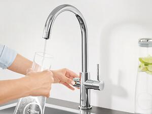 GROHE Blue. Afkølet og filtereret vand direkte fra vandhanen.