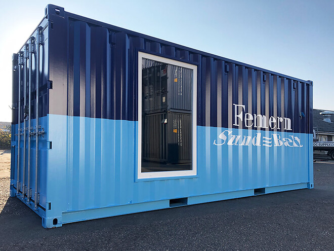 Infocontainer til Femern Sund & Bælt