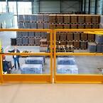 Palleporten giver mulighed for at opmagasinere emner på paller ovenpå pakkeområdet.