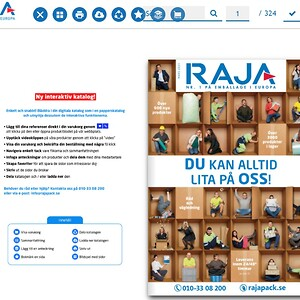 Interaktiv produktkatalog på RAJAs webbplats