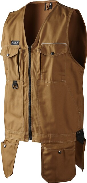 Outlet - arbejdsvest, canvas, 1512 - camel