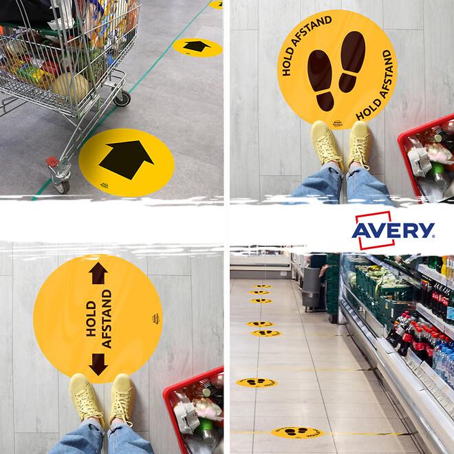Avery gulvetiketter
