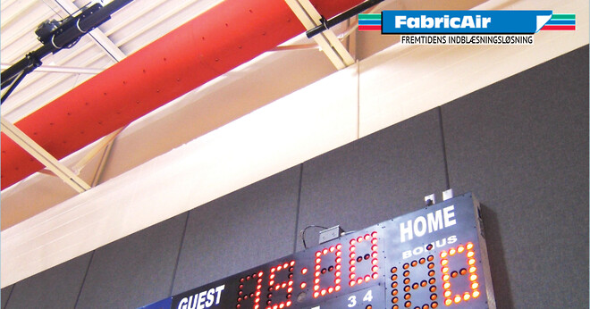 FabricAir dispersion solutions create ideal IAQ in sports arenas