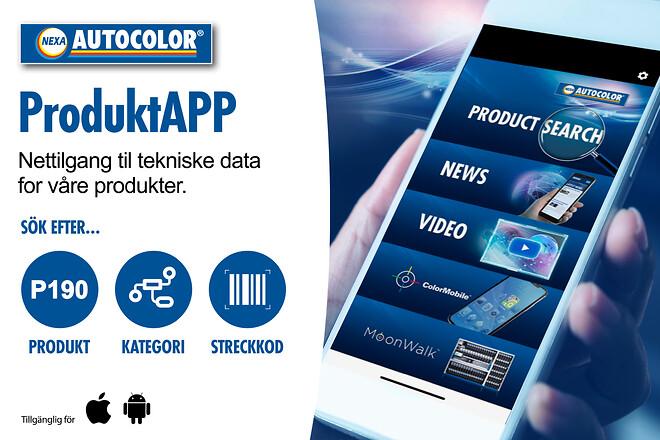 Nexa Autocolor-ProduktApp