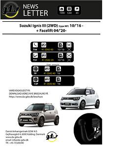 Suzuki Ignis 2WD fast og aftageligt anhængertræk fra Dansk Anhængertræk GDW